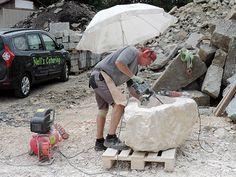 Ein Brunnen entsteht: Steinbrocken Code 110 Baby Strollers, Vacuums, Home Appliances, Children, Photos, Stones, Baby Prams, House Appliances