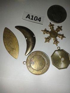 Vintage brass finding lot A104 by TigersPlace on Etsy