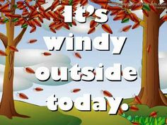 This youtube video is about the weather. Very good for young children or ESL children. x