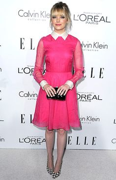 Emma Stone was pretty in pink at ELLE's 19th Annual Women in Hollywood Celebration #emmastone
