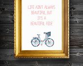 Life Ain't Always Beautiful Typography Digital Illustration Print ...