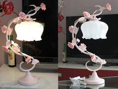 #rose #lamp Find it-->http://goo.gl/9hfaC9 Live a better life, start with Beddinginn http://www.beddinginn.com/product/Elegant-Pastoral-Style-Roses-Glass-Shade-Table-Lamp-10979758.html