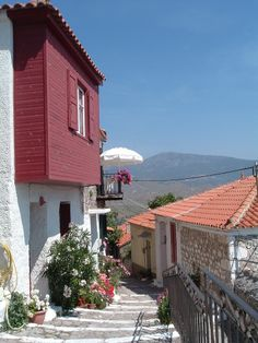 The quaint cobbled streets of Molyvos. A charming village to explore.