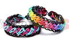 cool Rainbow Loom Criss Cross Over Braid Bracelet - Requires Two Looms
