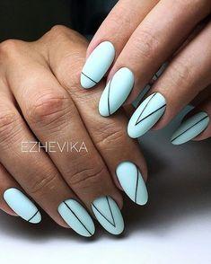 nail shapes for chubby fingers Nailart Best Acrylic Nails, Gel Nail Art, Nail Polish, Line Nail Art, Stylish Nails, Trendy Nails, Line Nail Designs, Lines On Nails, Minimalist Nails