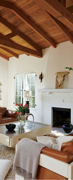 In the home of designer Sophie Buhai, 1970's chic, complete with shag rug, mixes with the cozy Mediterranean-inspired architecture of her 1930's Silver Lake bungalow, creating a California-cool atmosphere. Inspiring Interiors | Buyer Select