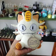 Amigurumi Meowth #pokemon #pokemongo #crochet #amigurumi #Guayaquil #Ecuador #Quito