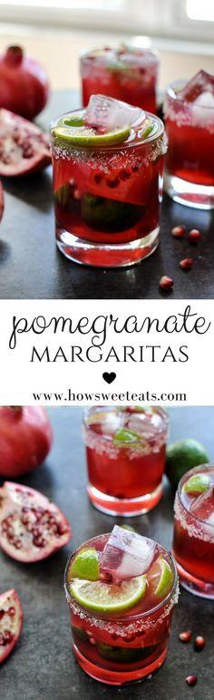 Pomegranate Margaritas I howsweeteats.com @howsweeteats