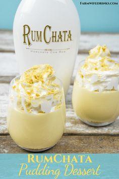 Sand Pudding Dessert, Sand Dessert, Jello Pudding Desserts, Pudding Cups, Dessert Cups, Dessert Recipes, Pudding Recipes, Rumchata Pudding Shots, Rumchata Recipes