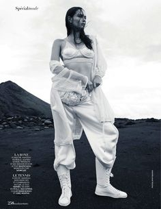 """""""Luxury Sports"""" Tayane Leao Melo for Madame Figaro France February 2016"""