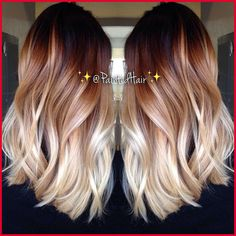 Two-Tone Hair Colour Ideas to 'Dye For Two-Tone Hair Colour Ideas to 'Dye For'!: Ombre Hair StylesTwo-Tone Hair Colour Ideas to 'Dye For'! Onbre Hair, Big Hair, Hair Color And Cut, Ombre Hair Color, 2 Tone Hair Color, Hair Colours, Blonde Color, Colour Melt Hair, Burgandy Ombre Hair