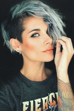 51 Edgy and Rad Short Undercut Hairstyles for Women - Latest Hairstyles bob hairstyles Undercut Hairstyles Women, Short Hair Undercut, Undercut Women, Cool Short Hairstyles, Haircut Short, Side Undercut, Hairstyles 2018, Latest Hairstyles, Hairstyle Short