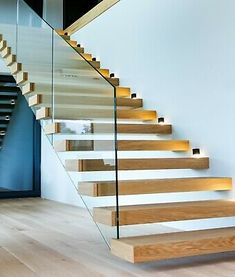Staircase Contemporary, Staircase Design Modern, Home Stairs Design, Interior Stairs, Dream House Interior, Contemporary Interior Design, House Staircase, Open Staircase, Staircase Remodel