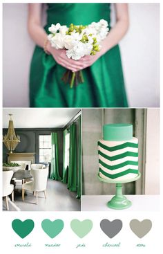 Using emerald for wedding/event colors