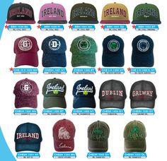 Irish Souvenir baseball caps. Drum Heads, Bass Drum, Baseball Caps, Hats, Ireland, Irish, Range, Printed, Souvenir