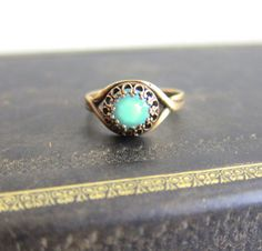 Turquoise Ring Aqua Ring Blue Mint Green Ring by Jewelsalem, $20.00