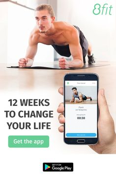 Download the 8fit Android app and start your 12-week transformation. Build a diet plan to match your lifestyle and develop new eating habits with healthy recipes. Our short HIIT workouts, personal trainer, custom meals and food ideas will help you reach your health & fitness goals before you even know it.