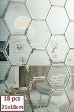 Wall Bevelled Mirror Bathroom Kitchen Tiles 18pcs Set 21X18cm Retro Style Mirror