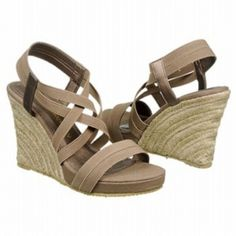 SALE - Chinese Laundry De Lux Wedge Heels Womens Taupe Textile - Was $59.00 - SAVE $15.00. BUY Now - ONLY $44.25.