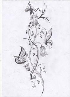vine+tattoos | Flower vine and Butterflies by ~Ashtonbkeje on deviantART #samoantattoosleg