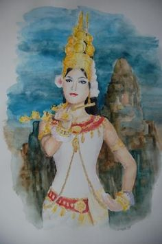 APSARA....KHMER TRADITIONAL DANCER......PAINTING.....YAHOO IMAGES....