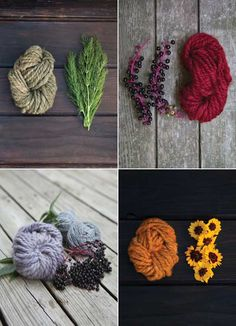 Nature inspired dyed yarns