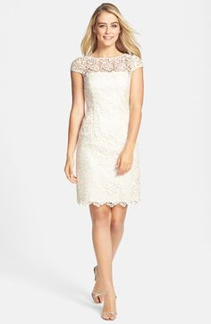 Rehearsal Dinner? Adrianna Papell Lace Shift Dress available at #Nordstrom