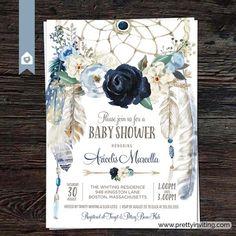 free spirit boho mom baby fairy printed originals Handmade baby girl greeting card It/'s a girl new baby girl baby shower botanical