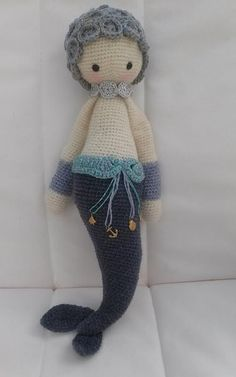 MICI the mermaid made by Margaret H. / crochet pattern by lalylala