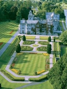 English Country Estate with Formal Gardens.
