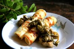 Pancakes with chicken and leek stir. Here's how you make it. Recipe for both babies and adults.