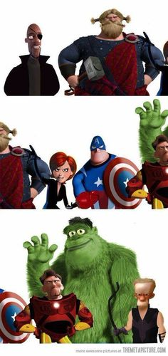 Pixar/Avengers crossover