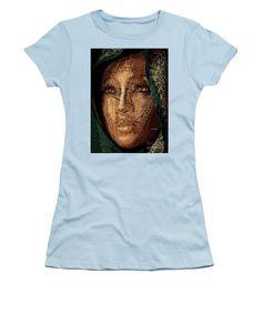 Women's T-Shirt (Junior Cut) - Studio Portrait In Pencil 54