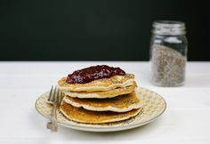 Vegan Chai Pancakes & Vanilla Raspberry Compote