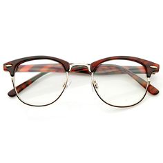 b740dfab5c Optical Quality Horned Rim Clear Lens RX able Half Frame Horn Rimmed Glasses