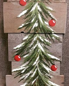 Here is some great rustic inspiration for a simple christmastree ! ☺❤🎄