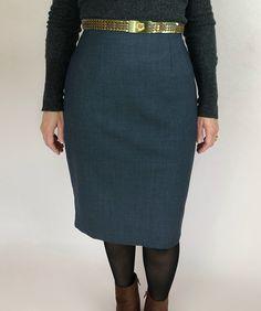 Patron de couture gratuit de jupe crayon | PIMPANTE COUTURE Waist Skirt, High Waisted Skirt, Techniques Couture, Couture Sewing, Skirts, Fashion, Sewing, Moda, Haute Couture