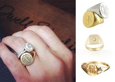 Put A Ring On It: Alternative wedding band—a gold signet ring with your hubby's initials.