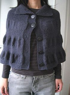 Knitted cape. Available in booklet, or as kit from Amimono Knitkit Shop.