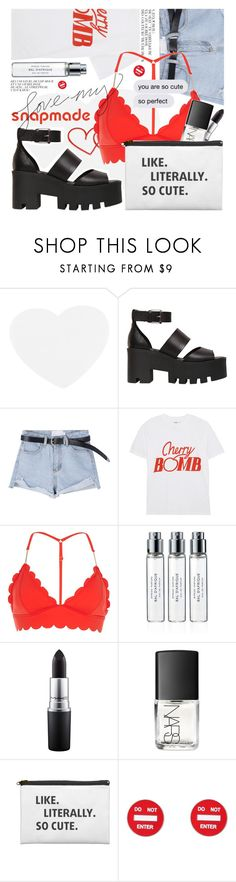 """So Cute featuring snapmade.com"" by cultofsharon ❤ liked on Polyvore featuring Windsor Smith, Ganni, River Island, Byredo, MAC Cosmetics, NARS Cosmetics and Moschino"