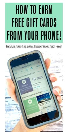 How to Earn FREE Gift Cards from your Phone! | TheFrugalGirls.com