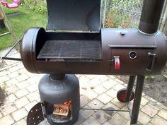 Custom Bbq Grills, Custom Bbq Pits, Build A Smoker, Bbq Pit Smoker, Gas Bottle Wood Burner, Cumulus, Smokehouse Bbq, Charcoal Smoker, Homemade Smoker