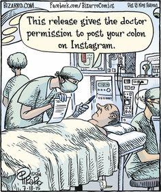 for insurance coverage. Bizarro by Dan Piraropay for insurance coverage. Bizarro by Dan Piraro Cartoon Jokes, Funny Cartoons, Funny Comics, Math Jokes, Cartoon Posters, Political Cartoons, Operating Room Humor, Surgery Humor, Surgery Quotes