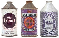 Vintage beer cans, from LA Times, via Honestly WTF