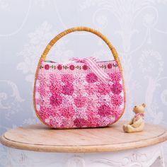 お花畑みたいでかわいい!ラブリーなヨーヨーキルトのかごバッグの作り方(バッグ)