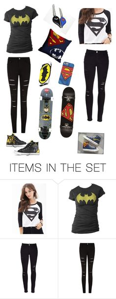 """""""Superman and batman bffs Inspired by request by @izzygymnastics10"""" by kat235 ❤ liked on Polyvore featuring art"""