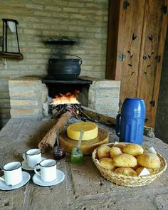 Breakfast how I remember it with the love of my life (my grandfather) Clay Pizza Oven, Vie Simple, Cooking Stove, Country Lifestyle, Veg Garden, Coffee Is Life, Small Farm, Simple Pleasures, Kitchen Living