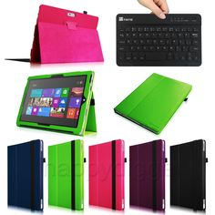 Folio Case Cover for Microsoft Surface Pro 3 12-Inch Windows +Bluetooth Keyboard #UnbrandedGeneric