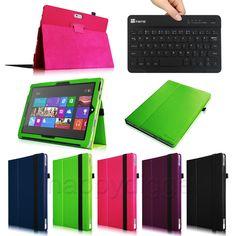 Folio Case Cover for Microsoft Surface Pro 3 12-Inch Windows +Bluetooth Keyboard #UnbrandedGeneric
