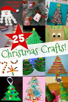 Fa la la! 'Tis the season for some easy Christmas crafts for kids, including Christmas trees, Santa and his reindeer, and of course, candy canes too!